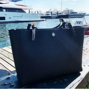 Tory Burch Large Black Tote Bag